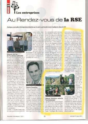 Les nouvelles publications - article de mars 2014