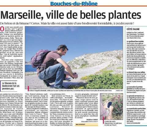 La Provence, article sur ecoBalade
