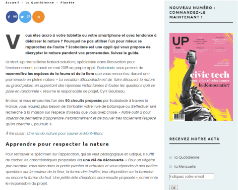 Up le Mag Ecobalade