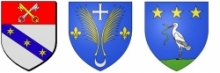 Blasons Saint-Léger du Ventoux, Brantes, Savoillans