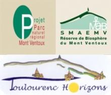 Logo projet parc naturel regional Mont Ventoux et Toulourenc Horizons