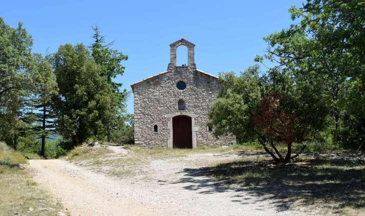 Balade des ocres de Gargas - La chapelle Sainte Radegonde (Crédits : Léa Charbonnier)