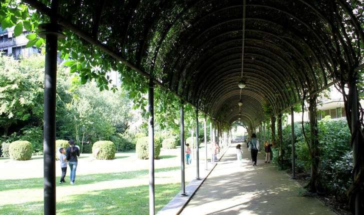 Passage dans le jardin Georges Duhamel (Crédits : Léa Charbonnier)