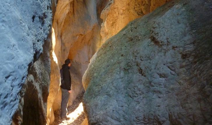 Au coeur des Gorges du Régalon, ici très etroites et profondes, un veritable canyon. (Crédits photos: Cyril Gautreau - NS)