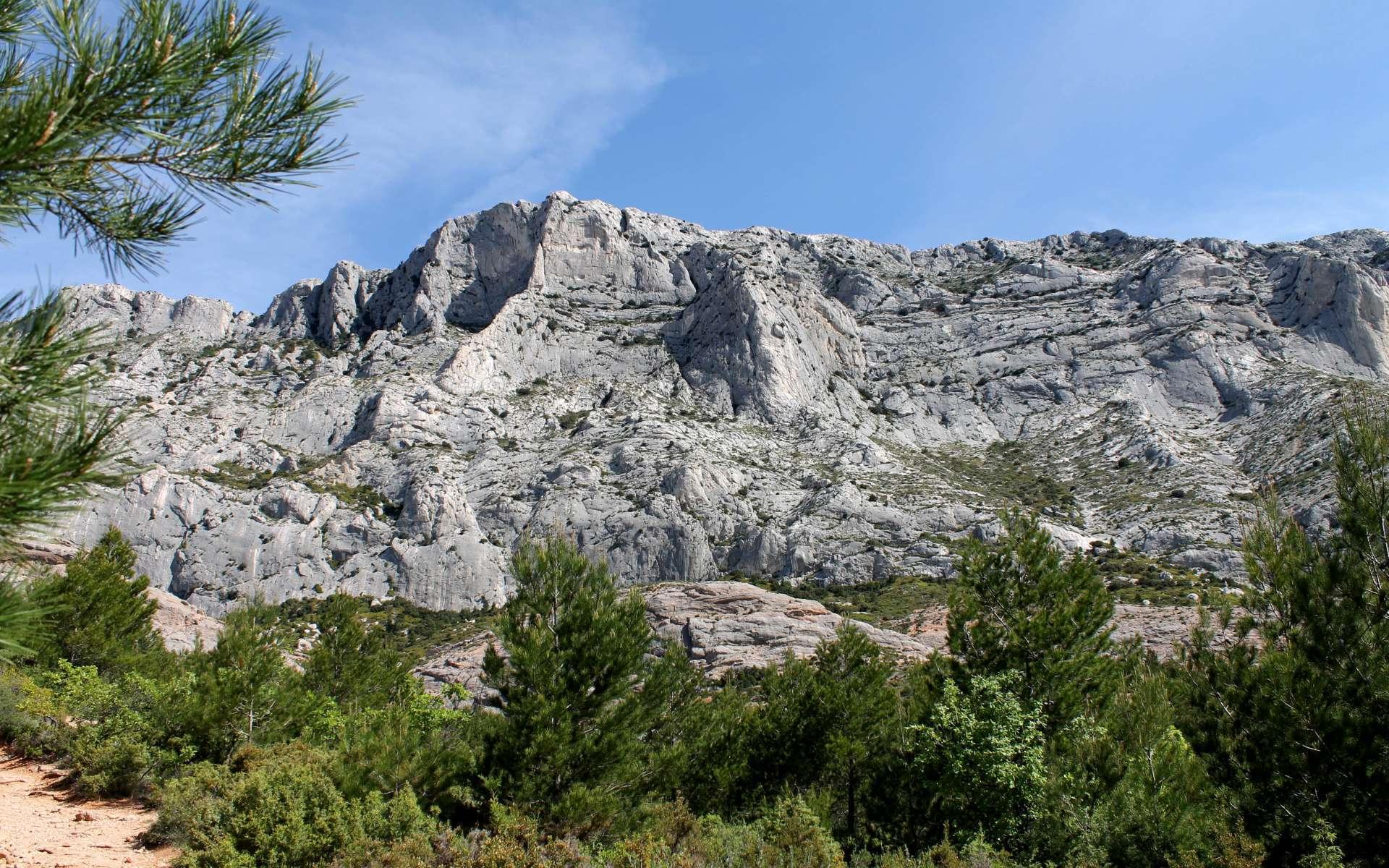 Face sud de la Montagne Sainte-Victoire (Crédits : Léa Charbonnier)