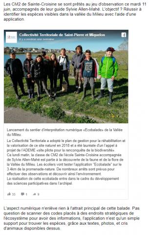 Saint-Pierre-et-Miquelon:Les balades natures à l'ère du numérique
