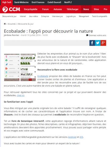 CCM Ecobalade