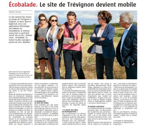 Le Télégramme - Le site de Trévignon devient mobile