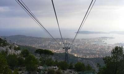 Mont Faron: vue du téléphérique