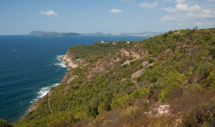 Vue du sentier, Cap Garonne